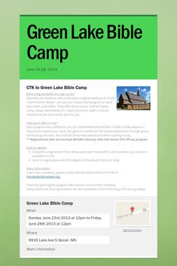 Green Lake Bible Camp
