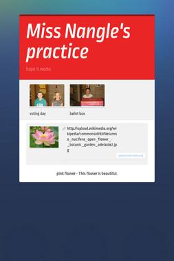 Miss Nangle's practice