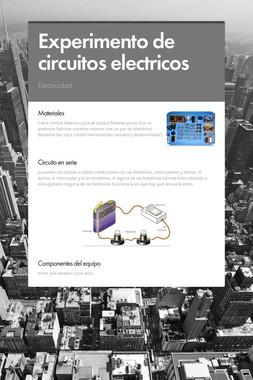 Experimento de circuitos electricos