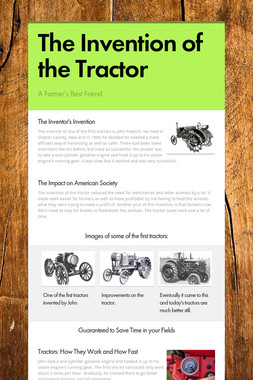 The Invention of the Tractor