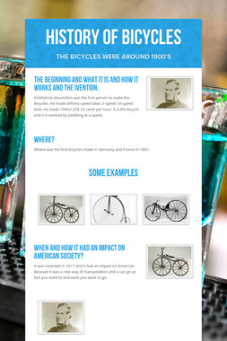 History Of Bicycles