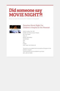 Did someone say MOVIE NIGHT?!