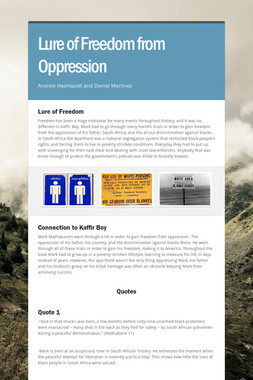 Lure of Freedom from Oppression
