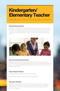 Kindergarten/    Elementary Teacher