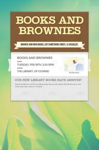 Books and Brownies