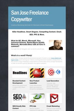 San Jose Freelance Copywriter