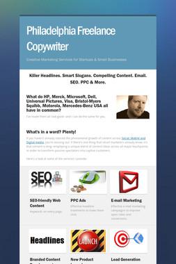 Philadelphia Freelance Copywriter