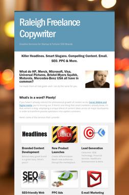 Raleigh Freelance Copywriter