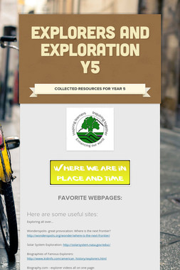 Explorers and Exploration Y5