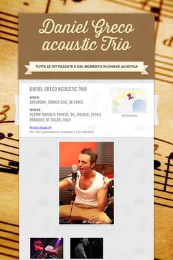 Daniel Greco acoustic Trio