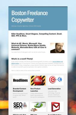 Boston Freelance Copywriter