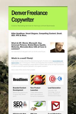 Denver Freelance Copywriter