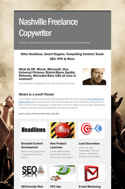 Nashville Freelance Copywriter
