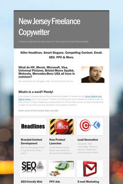 New Jersey Freelance Copywriter