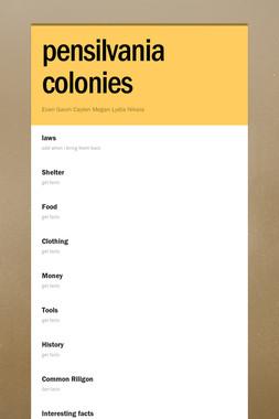 pensilvania colonies