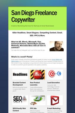 San Diego Freelance Copywriter