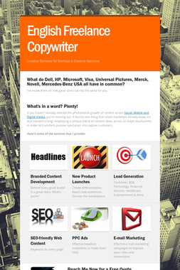 English Freelance Copywriter