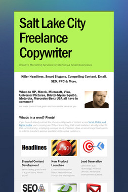 Salt Lake City Freelance Copywriter