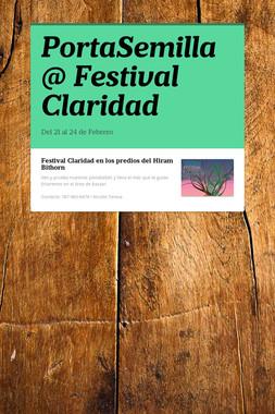 PortaSemilla @ Festival Claridad