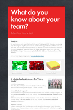 What do you know about your team?