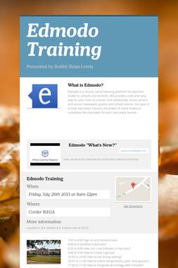 Edmodo Training
