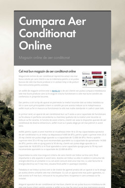 Cumpara Aer Conditionat Online