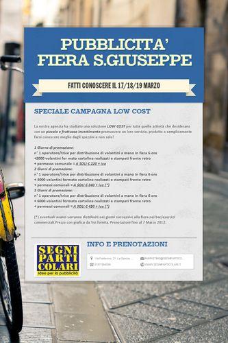 PUBBLICITA' FIERA S.GIUSEPPE