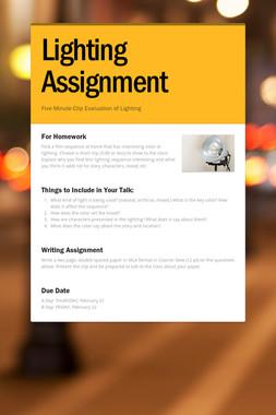 Lighting Assignment
