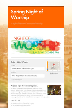 Spring Night of Worship