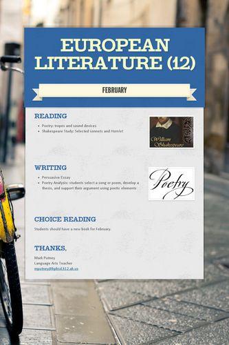 European Literature (12)