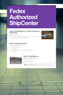 Fedex Authorized ShipCenter