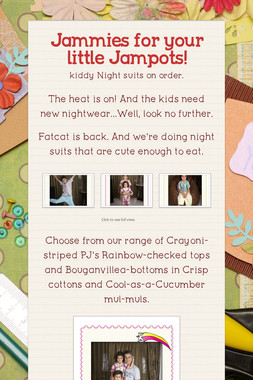 Jammies for your little Jampots!