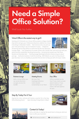 Need a Simple Office Solution?