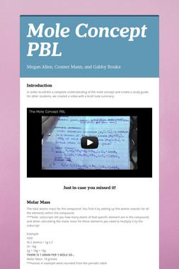 Mole Concept PBL