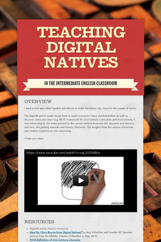 Teaching Digital Natives