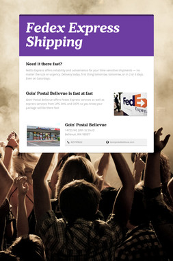 Fedex Express Shipping
