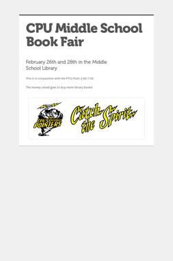 CPU Middle School Book Fair