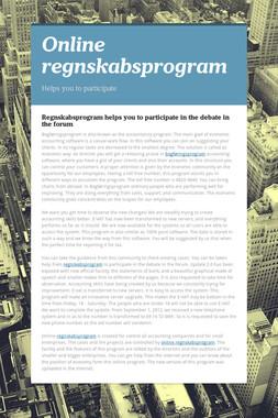 Online regnskabsprogram