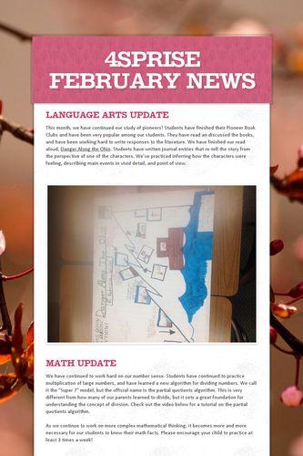 4Sprise February News