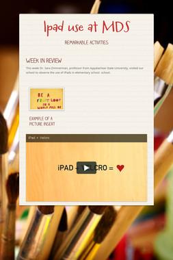 Ipad use at MDS