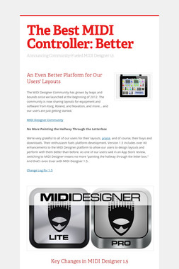 The Best MIDI Controller: Better