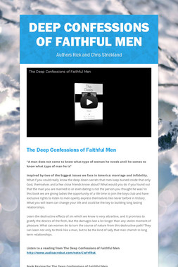 Deep Confessions of Faithful Men
