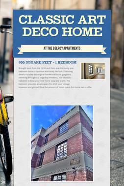 Classic Art Deco Home