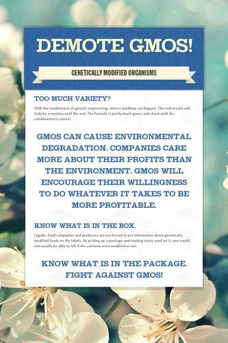 Demote GMOs!