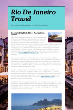 Rio De Janeiro Travel