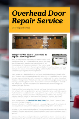 Overhead Door Repair Service