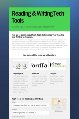 Reading & Writing Tech Tools