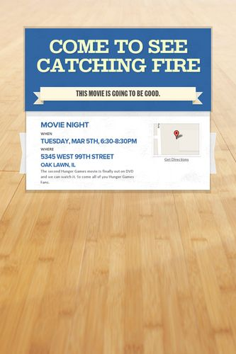 Come to see CATCHING FIRE