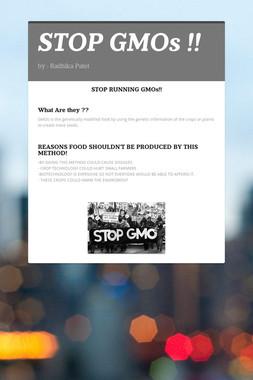 STOP GMOs !!