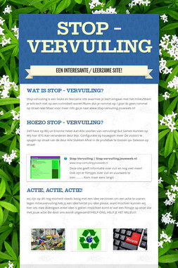 Stop - vervuiling
